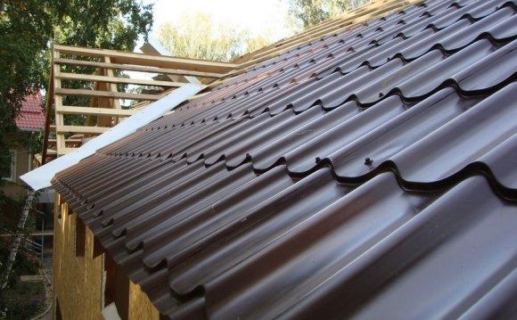 Устройство крыши из